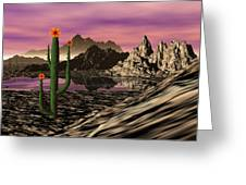 Desert Cartoon Greeting Card