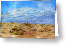 Desert Contrasts Greeting Card by Michelle Dallocchio