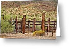 Desert Corral Greeting Card