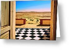 Desert Dreamscape Greeting Card