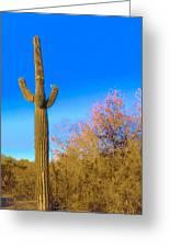 Desert Duo In Bloom Greeting Card