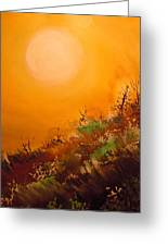 Hot Desert  Evening  Greeting Card