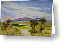Desert Green Greeting Card
