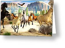 Desert Horses Greeting Card