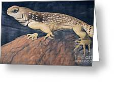 Desert Iguana Mural Greeting Card