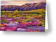 Desert In Bloom Greeting Card by Johnathan Harris
