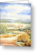 Desert Landscape Watercolor Greeting Card