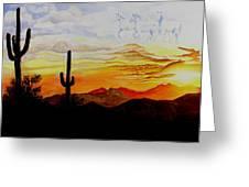 Desert Mustangs Greeting Card