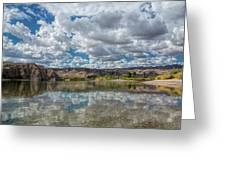 Desert River Cloud Reflection Greeting Card