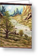 Desert River Greeting Card