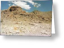 Desert Sand And Rock Greeting Card