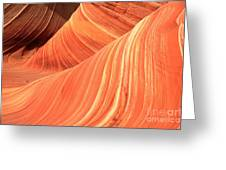 Desert Sandstone Waves Greeting Card