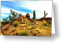 Desert Scene Near Sedona Arizona Painting Greeting Card