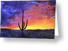 Desert Sunset 4 Greeting Card