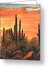 Desert Sunset I Greeting Card