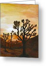 Desert Sunset II Greeting Card