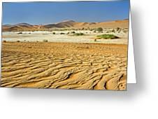 Desert Texture In Namib-naukluft Greeting Card