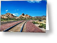 Desert Tracks Greeting Card