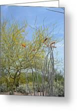 Desert Trees Greeting Card