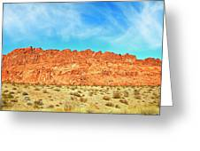 Desert Valley Of Fire Greeting Card