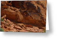 Desert Varnish Petroglyphs Valley Of Fire Greeting Card