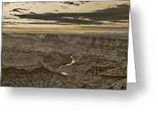 Desert View II - Anselized Greeting Card
