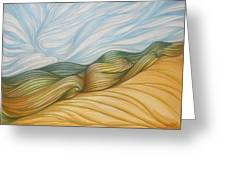 Desert Waves Greeting Card