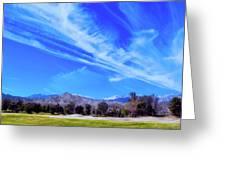 Desert Winter Sky Greeting Card