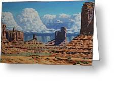Rainstorm Over Monument Valley Greeting Card