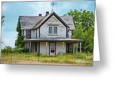 Deserted Oklahoma Farmhouse Greeting Card
