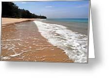 Deserted Shore Of The Island Of Tioman Greeting Card