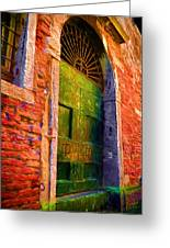 Deserted Venice  Greeting Card
