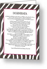 Desiderata 12 Greeting Card
