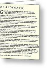 Desiderata 17 Greeting Card