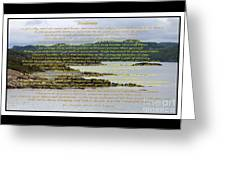 Desiderata Rugged Coastline Greeting Card