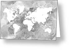 Design 49 world map grayscale digital art by lucie dumas design 49 world map grayscale greeting card gumiabroncs Gallery