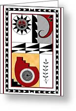 Southwest Collection - Design Five In Red Greeting Card