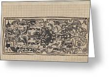 Design For A Binding For Charivaria, Carel Adolph Lion Cachet, 1874 - 1945 Greeting Card