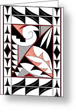 Southwest Collection - Design Four In Red Greeting Card