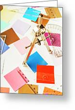Design In Abstract Geometry Greeting Card