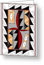 Southwest Collection - Design One In Red Greeting Card