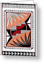 Southwest Collection - Design Three In Red Greeting Card