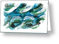 Design Waves Greeting Card