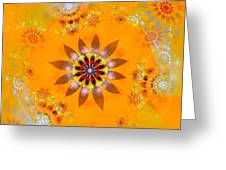 Designs On Gold Greeting Card