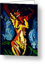 Desnuda Azul Greeting Card