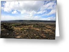 Desolate Lava Field Greeting Card