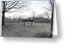 Come Sit A While Greeting Card