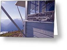 Desolation Peak Fire Lookout Cabin Sign Greeting Card