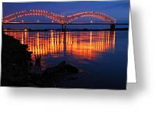 Desoto Bridge Refections Greeting Card