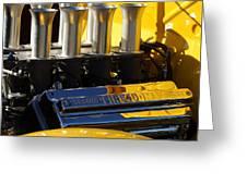 Desoto Firedome Eight Engine Greeting Card